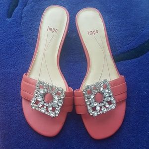 """Impo leather pink shoes size 8-1/2"""" M."""